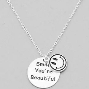 Smile Message Pendant Necklace